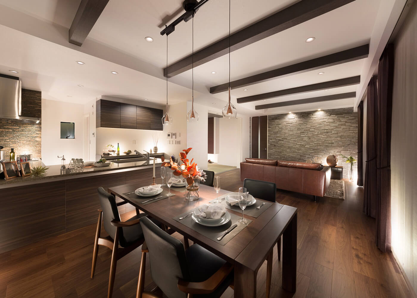Living Dining Kitchen